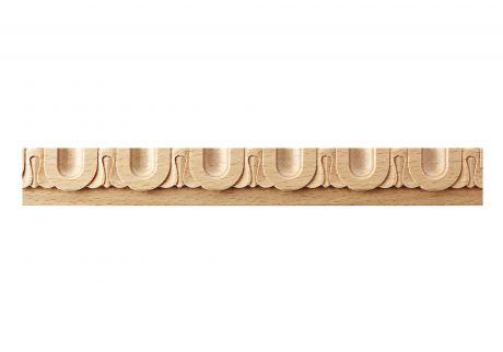 Ornate fluted wood moulding