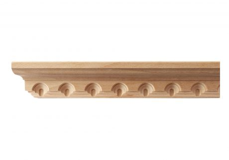 Arch and dentil wood moulding