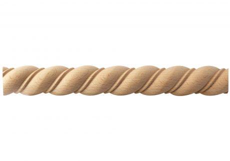 Rope wood moulding