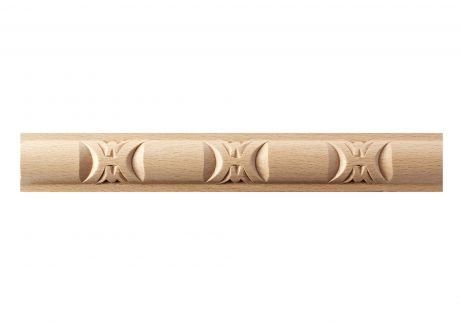Reel and dart band wood moulding