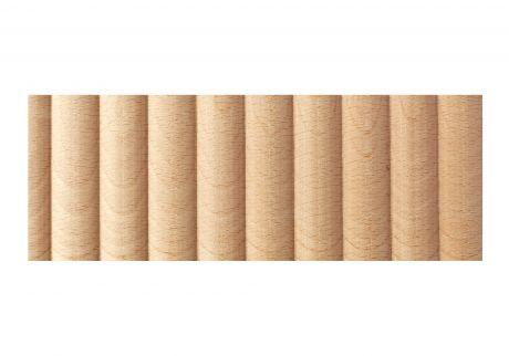 Wave wood moulding