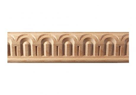 Carved fluted wood moulding