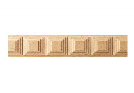 Square block wood moulding