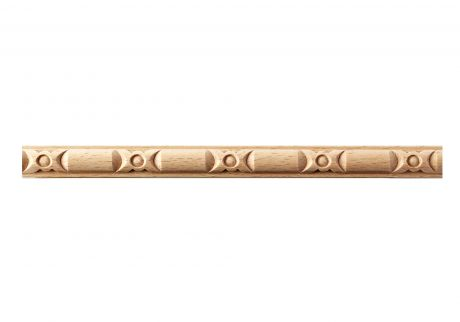Bead and reel band wood moulding