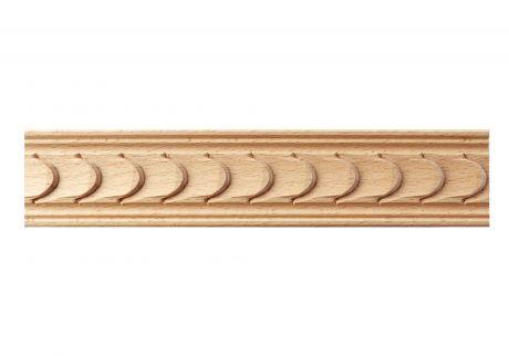 Ripple wood moulding