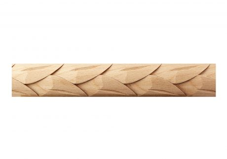Feathered wood moulding
