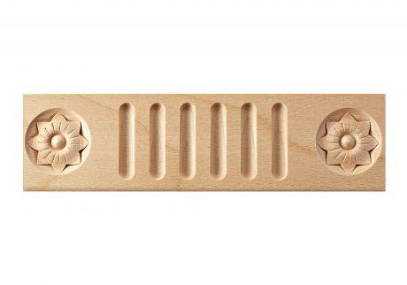 Fluted & rosette wood moulding