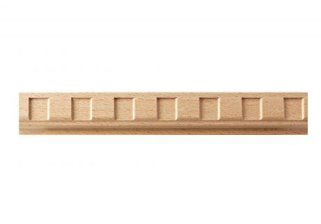 Dentil wood moulding